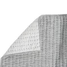 Lucie Ticking Stripe Quilt