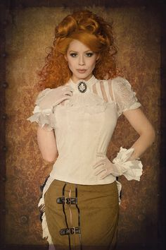 Steampunk-Lace-Shirt. Omg...I really LOVE this pretty outfit!!!