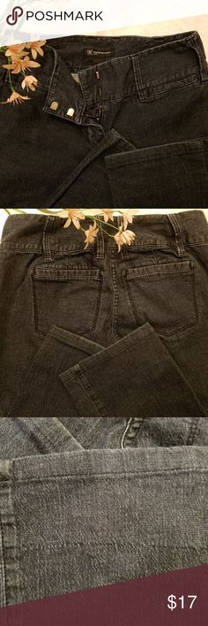 """INC Jeans 2P EUC These are perfect INC jeans in a size 2 petite. Very soft and light weight. The photos they look black but are dark blue. I posted a photo to show the zipper and two hooks and the bottom of the leg and the right back pocket shows like a tiny flaw running through the material. It doesn't affect the quality of the jeans at all. I didn't notice it when I bought them and I think I only wore these a couple of times. The waist measures 28"""" and the inseam 27 1/2"""". Shoot me an…"""