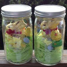 Easter in a mason jar... cute little happy ...