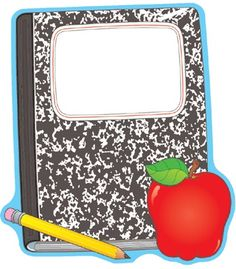 Composition Book and Apple Two-Sided Decoration - Carson Dellosa Publishing Education Supplies#CDWishList