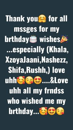 Birthday Greetings Quotes, Happy Birthday Best Friend Quotes, Thank You For Birthday Wishes, Happy Day Quotes, Birthday Wishes Messages, Birthday Quotes For Best Friend, Card Birthday, Birthday Ideas, Birthday Gifts