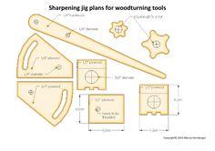 fingernail grind oneway wolverine style lathe gouge sharpening jig plans