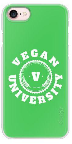 Casetify iPhone 7 Snap Case - Vegan University by lescapricesdefilles #typography #vegan #vegetarian #food #philosophy #vegetables #case