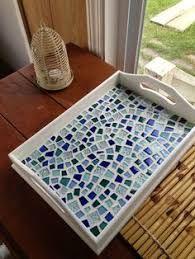 The best Mosaic tray ideas Mosaic Tray, Mosaic Glass, Mosaic Tiles, Glass Art, Mosaic Crafts, Mosaic Projects, Diy Projects, Mosaic Designs, Mosaic Patterns