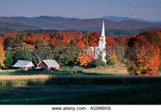 Geography / Travel, Usa, Vermont, Landscapes, Lamoille River And ...