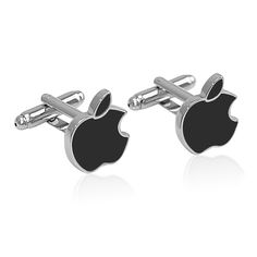Custom Black Apple Cufflinks Manufacturer. You can place your order for CUSTOM CUFFLINKS, with the plating colors of your choice. These cufflinks are simply amazing. Add a modern touch to your shirt with a new pair of apple symbol cufflinks. For apple enthusiasts or for computer geek gifts that will help him stand out from