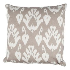Andrew+Martin+Giza+Taupe+Cushion+-+Elegant+duck+feather+cushion+in+natural+finish+from+Andrew+Martin. The+Giza+Taupe+Cushion+features+a+reworked+ikat+design+that+combines+a+taupe+backdrop+with+a+bold+white+pattern. The+accessory+offers+a+natural+look+and+is+crisp+yet+gentle+to+the+touch.+It+comes+with+a+soft+border+rim+that+mixes+both+colour+finishes. The+cushion+comes+with+a+duck+feather+inner+pad+that+adds+a+comforting+and+inviting+feel.+It+also+has+a+discreet+zip+opening. The+Giza+Tau...