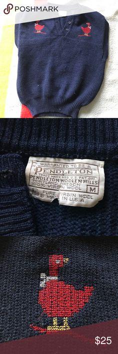 Adorable vintage sweatervest Vintage Pendleton sweater-vest with ducks! Pendleton Sweaters