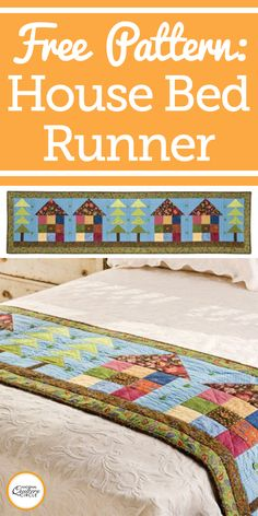 I love bed runners! They are a great accent for any bed and bedroom. The GO! Row House Bed Runner quilt pattern is a quirky, quaint runner that would accentuate any bedding. This pattern contains a variety of traditional patterns, fashioned to create a quaint neighborhood across your bed.