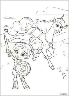 Do Your Kids Adore Nick Jr Weve Picked One Of The Best Namely Nella Princess Knight In Coloring
