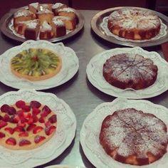 breakfast, sicily, cakes, sweets, fruit, apple pie, cream tart