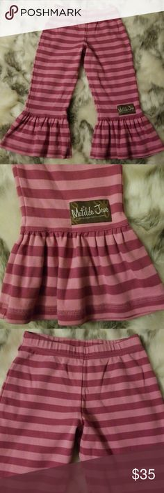 Matilda Jane Ruffle pants size 4 Perfect condition. I'm so sad I bought these for my daughter & She won't wear ruffles! Matilda Jane Bottoms Casual