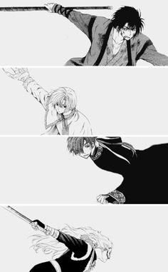 Akatsuki no Yona / Yona of the dawn anime and manga || Hak, Kija, Jaeha, and Shinah <3