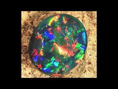 Black Opal - The mother of all gemstones - found only in Austrialia