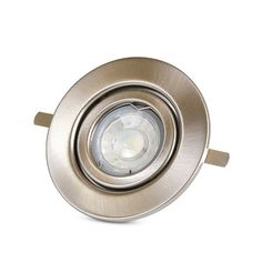 Spot circular llano LED 4W 6000K Plateado Luz Blanca - Promart
