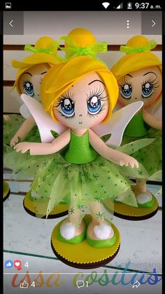 Tinkerbell Fairies, Tinkerbell Party, Foam Crafts, Paper Crafts, Doll Face Paint, Rose Art, Polymer Clay Crafts, Bottle Crafts, Diy Gifts