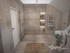 Návrh rodinného domu Rodinný dom s wellness, pohľad na sprchový kút hlavnej kúpeľne Alcove, Bathtub, Bathroom, Standing Bath, Bath Room, Bath Tub, Bathrooms, Bathtubs, Bath