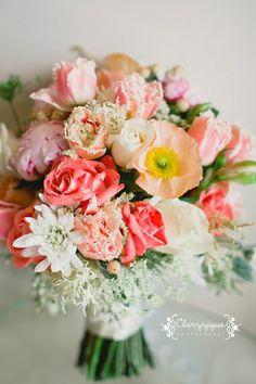 Tangerine Orange Floral ArrangementsYES!!!!! Add some magenta and teal