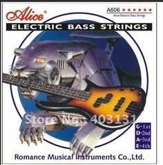 Alice Electric Bass Strings 045-130 Nickle Alloy Wound Music Wire 5pcs/set Bass Guitar Accessories #Affiliate
