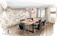 Home Decorators Collection Vanity Interior Design Renderings, Drawing Interior, Interior Rendering, Interior Sketch, Interior Architecture, Interior And Exterior, House Design Drawing, Home Staging, Portfolio Design
