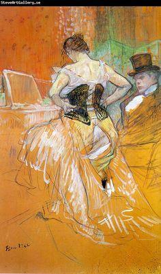 Henri de Toulouse Lautrec - Femme mettant son corset