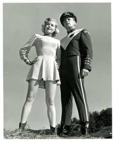 "Richard Crane and Sally Mansfield in ""Rocky Jones, Space Ranger"" (1954)"