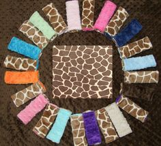 Giraffe MINKY Carseat Strap Covers by tarascozycreations on Etsy