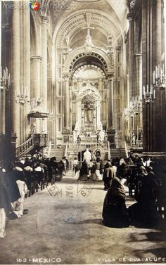 Interior de La Villa de Guadalupe Hacia 1945 - Fotos de Ciudad de México, Distrito Federal, México