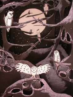 Paper theater: Owls