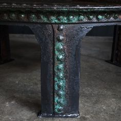 ATELIER Huge Rivet coffe Table circa 1880