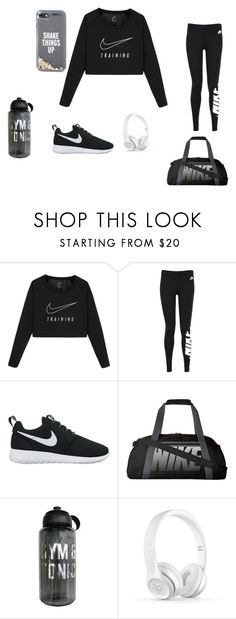 """""""Gym Time"""" by tynaezhwilliams ❤ liked on Polyvore featuring NIKE and Kate Spade"""