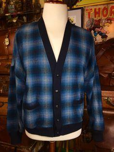 Vintage Pendleton Mackinaw Blue Tartan Men's by TheMaineVintage