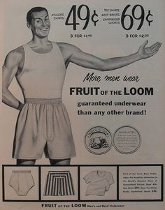 Fruit of the Loom ad, 1950s