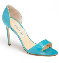 Manolo Blahnik 'Catalina' Patent Leather d'Orsay Sandal