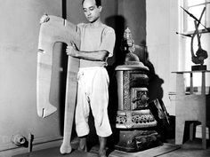 Isamu Noguchi was a prominent Japanese American artist and landscape architect whose artistic career spanned six decades. Known for his sculpture and public works, Noguchi also designed several. Isamu Noguchi, Abstract Sculpture, Sculpture Art, Japanese American, Creative People, American Artists, Art Studios, Artist At Work, Ceramic Art