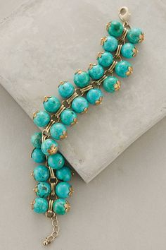 Stacked Bead Bracelet in Turquoise (Anthropologie)