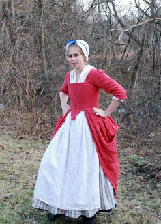 1770's Rose Gown Front by Goldenspring.deviantart.com