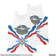 Flag of the Assyrian Nation All-Over Print Tank Top