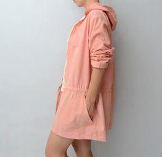 Vintage peach orange pink #Parka by #ZvezdanaVintage on Etsy, $38.00