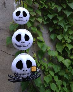 4bac0d7303 Nightmare Before Christmas Hanging Jack Skellington Heads Ornament Wall  Decor for Halloween or all year long