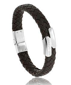 Bracelet Cerruti Neron marron http://www.bijoux-pour-homme.eu/bracelet-cerruti-neron-marron-p-19337.html