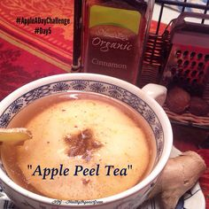 Apple Peel Tea- peel 3 apple and place peel in pot with water.Add cinnamon, grated ginger and cinnamon. The peels contains three powerful antioxidants.Make certain to use organic apples,or the peel will have chemical,s toxins and pesticides:)🐖 #organic #apples #applepeeltea