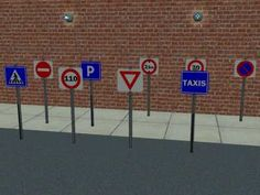 Mod The Sims - 15 Road Signs for your Sims