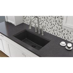 Elkay Elkay by Schock Undermount Quartz Composite 33 in. Single Bowl Kitchen Sink in Black-HDSBU33189QB - The Home Depot