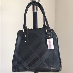 """Onyx Offering handbag  Brand New Handbag, with tags, never carried• Only ONE of this color and style available! -Brand: boutique/sold by Cali&Karma (retails for $92) -Color: black with gold hardware  -Dimensions: 12.5"""" length, 12"""" height, 5"""" width -Details: back pocket, interior pocket, two interior pouches, double side slide closure -Other: last one available‼️will not be restocked/open to OFFERS via Posh's offer button :) **soft animal friendly VEGAN LEATHER** Boutique Bags Satchels"""