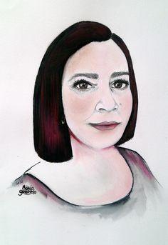 #portrait  #retrato #lápiz #pencil  #tintas