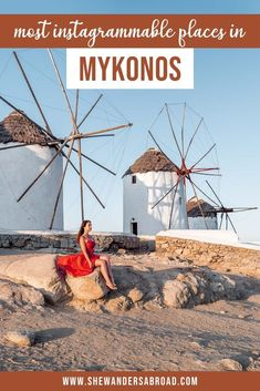 Mykonos is one of the most beautiful Greek islands with many charming photo spots. Here's the ultimate list of the most instagrammable places in Mykonos! #mykonos #greece #shewandersabroad | Greece Travel Tips | Mykonos Travel Tips | Mykonos Photography Ideas | Mykonos Travel Guide | Best things to do in Mykonos Greece | Europe Travel Tips