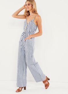 880e0ab6fec4 Summer Time Jumpsuit - Stripe Jumpsuits