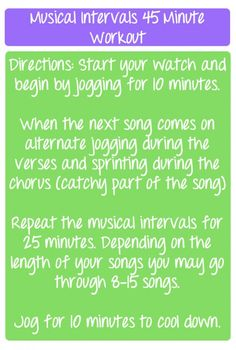 Musical Interval Workout